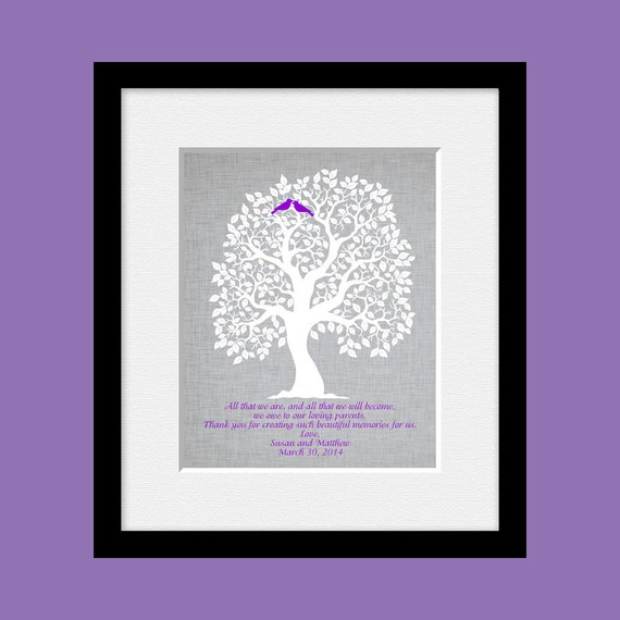 Wedding Day Gift For Parents : Wedding Day Gift for Our Parents, Parents Thank You Print, Customized ...