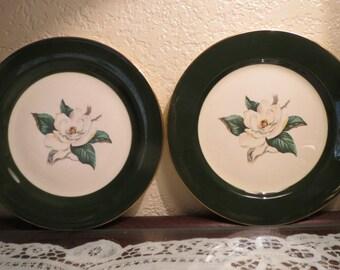 Antique Plates, Homer Laughlin Plates, Jaderose Collection, Homer Laughlin Jaderose