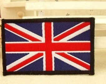 the Union Jack Sew on Patch , Flag of the United Kingdom Patches CB224-4