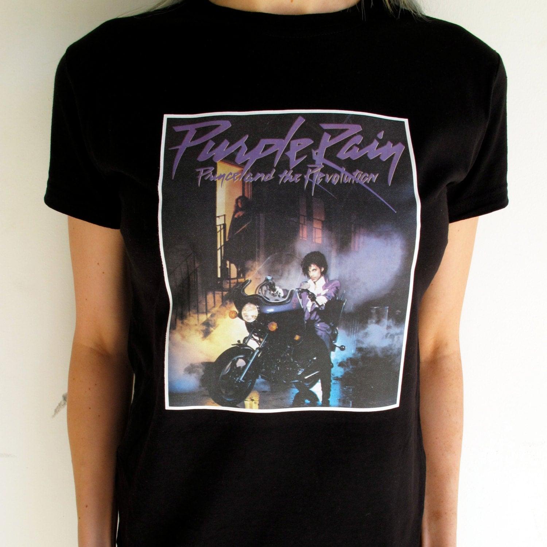 vintage prince purple rain t shirt 80s by dazedandvintage
