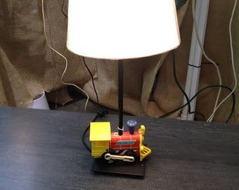 Antique Fisher Price Toy Train Lamp