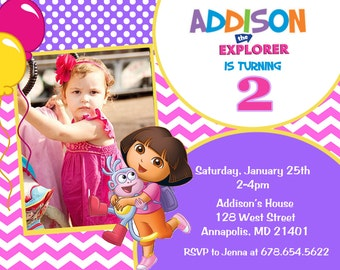 Dora the Explorer Birthday Party Invitation - Digital File