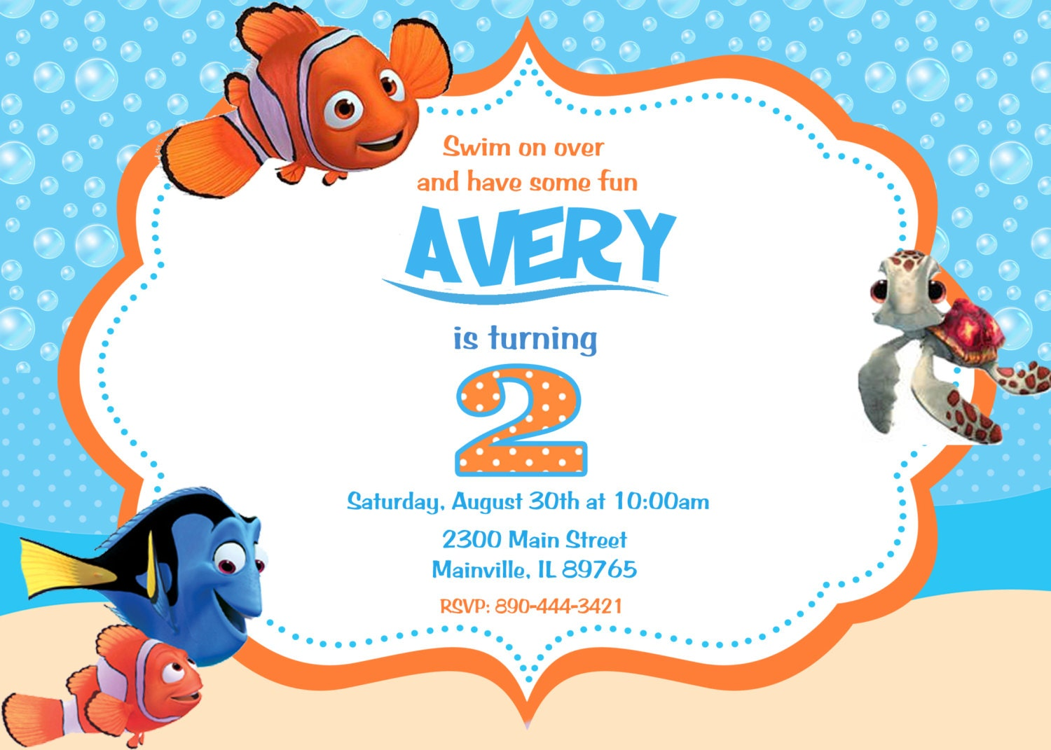 Finding Nemo Birthday Invitations can inspire you to create best invitation template