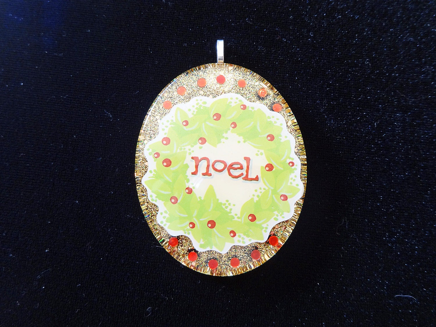 Resin Ornament: Joyeux Noël