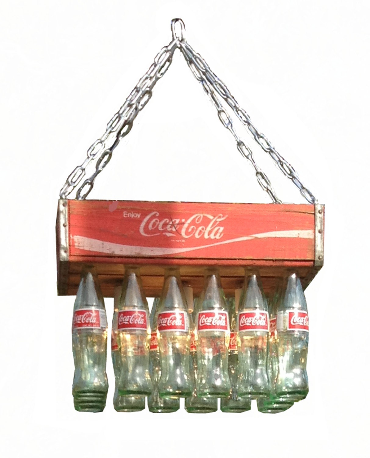 Coke Crate Chandelier