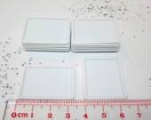 Miniature Plate,Miniature Plastic Rectangular Plate 12PCS