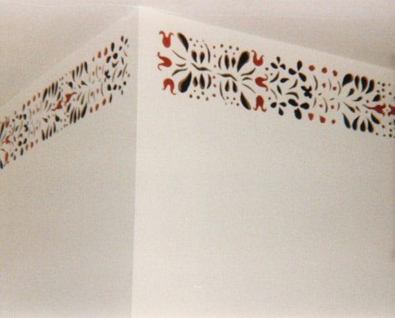 Vintage Stencil Wall Decor, 1860s Wall Stencil Pattern, Civil War Era Wall Pattern A
