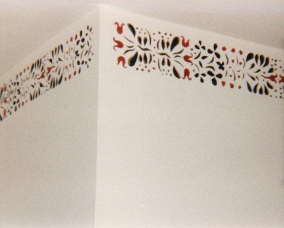 Instant Stencils For Walls : Vintage stencil pattern wall decor s