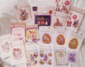 Brooke's Books SALE Overstock Lot 16 Cross Stitch Charts-Only Regularly 114 Dollar Value, Now 30
