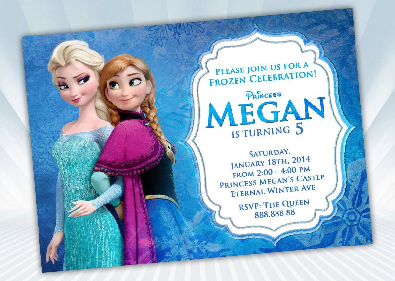 Printable Frozen Invitations is nice invitation design