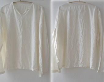 181---Men's Linen Shirt, Long Sleeve Top, Made to Order, S M L  XL XXL.