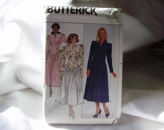 Retro 1986 Butterick Pattern no.4188 Misses Dress sizes 12,14,16 Dropped Waist