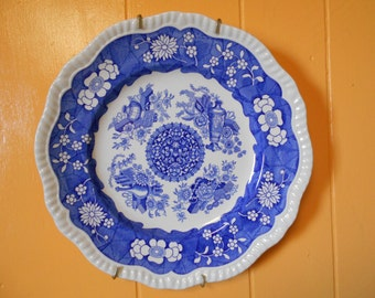 Spode Blue Room Collectors Plate, 'Trophies'. Made In England- vintage decorative plate