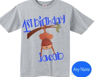 personalized 1st birthday boy shirt