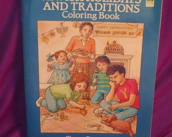 Jewish Holiday's and Traditions Coloring Book by Chaya Burstein
