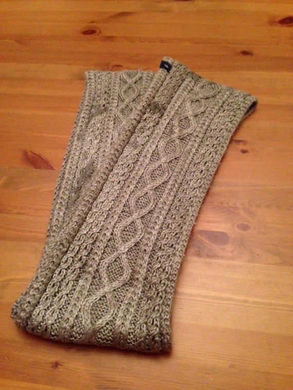 Cable Knit Infinity Scarf Pattern : Sages Cabled Infinity Scarf Pattern