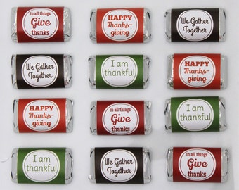 INSTANT DOWNLOAD - Thanksgiving Candy Wrappers