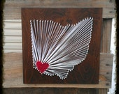 Custom State String Art Ohio State String Art Any State String Art 12X12