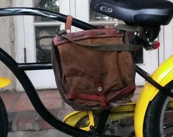 Vintage 1980s Swiss Army Haversack/Bread Bag/Bicycle Bag/Messenger bag