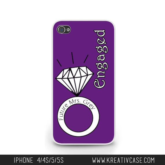 Engagement iPhone 4 Case, iPhone 4, iPhone 4S, Bride to Be Phone Case, Personalized iPhone Cover - K115