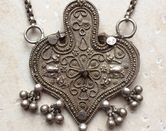 Silver necklace with amazing pendant from Gujarat, India