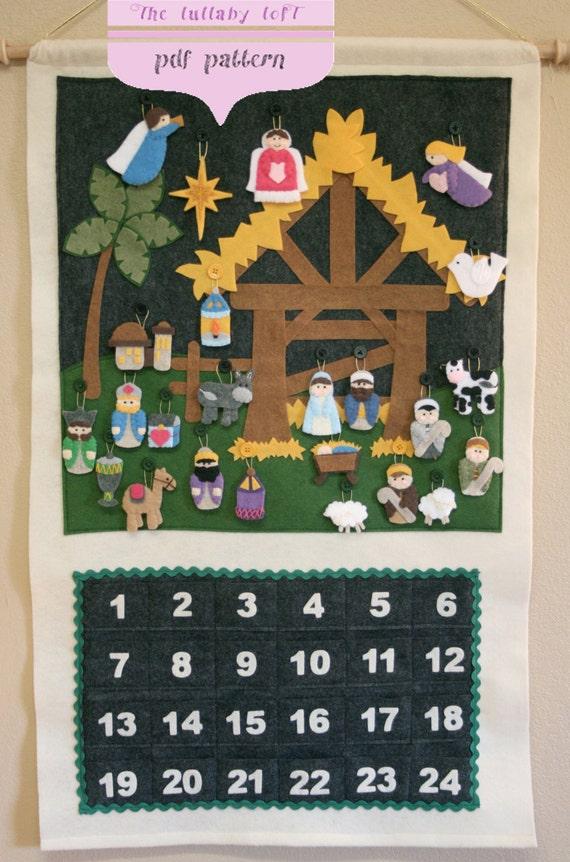 Nativity Advent Calendar Pattern Instant Digital