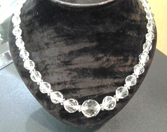 crystal beads on chain, 1950s