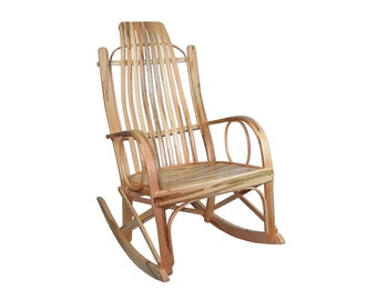 SALE- Wormy Maple Bentwood Rocking Chair