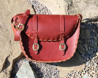 Handcrafted messenger bag or purse.