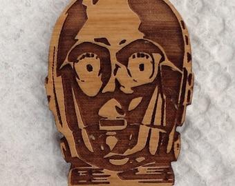 C-3PO Star Wars Wood Hat Pin