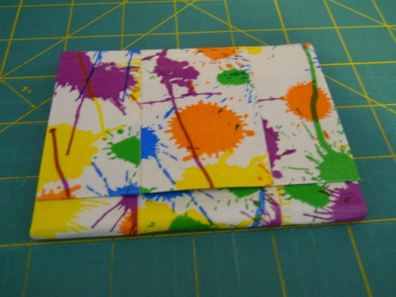 Paint Splatter And Rainbow Polka Dot Duct Tape Mini Accordion