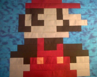 Mario Quilt Pattern Wall Hanging