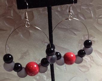 1 1/2 x2inch bubble hoop earrings.