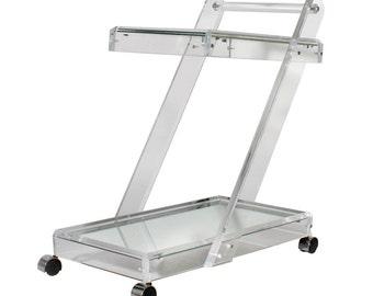 Lucite Bar Cart * Z Bar Cart * Acrylic Bar Cart * Plexigas Cart * Clear Service Cart * Tea Cart