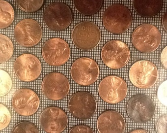 5 real US copper penny tiles from KVS Mint Coin Tile