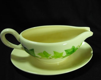 Franciscan Ivy Pattern Gravy Bowl Server