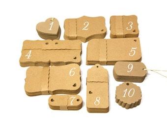100 Custom tags / custom gift tags / custom hang tags / custom labels / bracket labels / bracket tags brown kraft cardstock