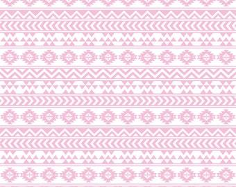 Light pink and white tribal pattern craft  vinyl sheet - HTV or Adhesive Vinyl -  Aztec Peruvian pattern HTV925