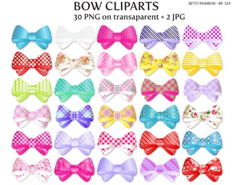 Bow cliparts PNG and JPG, bow clipart, girl, ribbon - BR 324