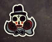 Halloween Style Sugar Skull Vinyl Sticker