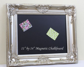 Decorative Framed Wedding Chalkboard Champagne Frame Magnetic Kitchen Chalk Board Bulletin Board Blackboard Photo Prop Message Sign 11x14