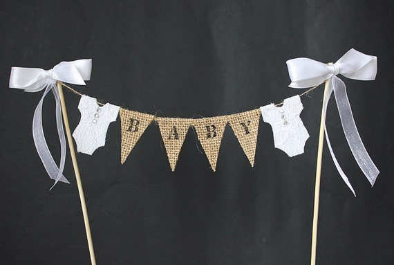 Baby Shower Cake Topperbaby Girl Or Baby Boy Cake Banner