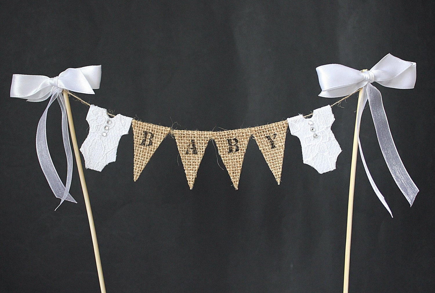 Hessian Cake Toppers