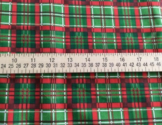 Christmas Plaid Fabric by Nathan Hall Deck the Halls
