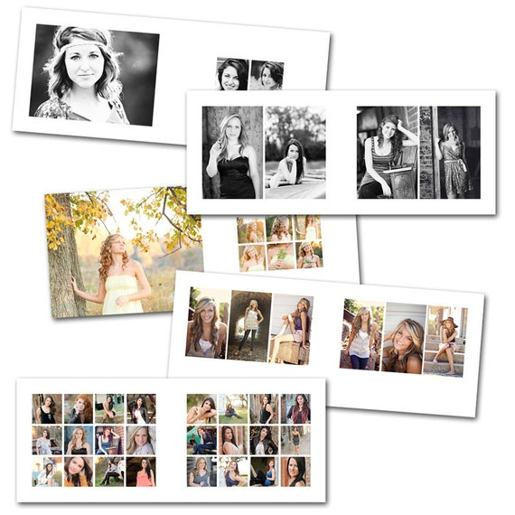Clean 8x10 horizontal album photoshop album template for Wedding photo album templates in photoshop