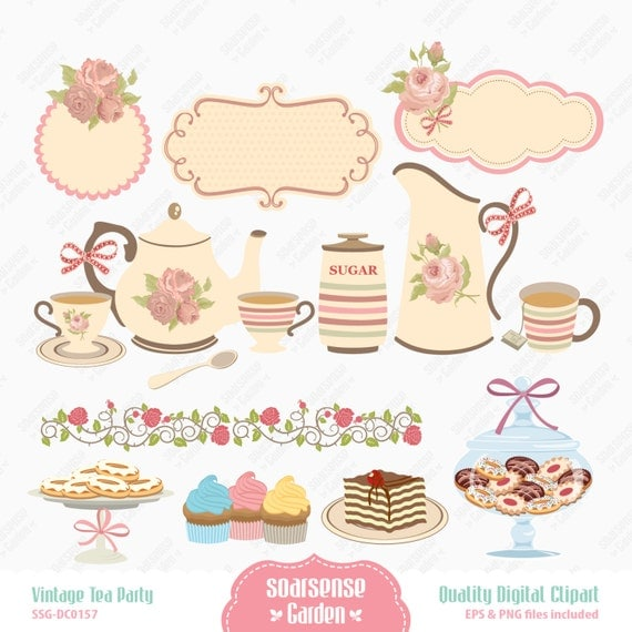 Tea Party Stock Vectors, Clipart and Illustrations