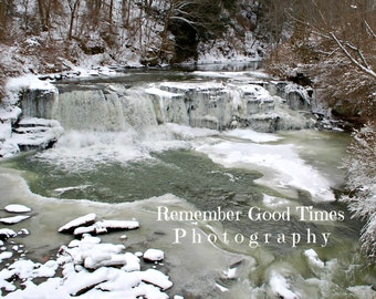 Iced Over Falls