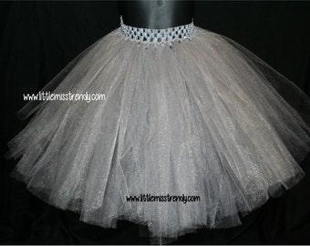 Silver Tutu Skirts, Children's Tutu Skirts, Silver Newborn to 6T Tutus, Silver Tutu