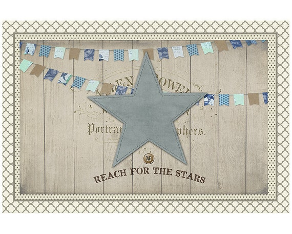Rustic Area Rug Reach For The Stars, Blue star Rug, Reach For The Stars Bath Mat, Floor Mat for Home, Boy's Room Mat, Typography Style Rug