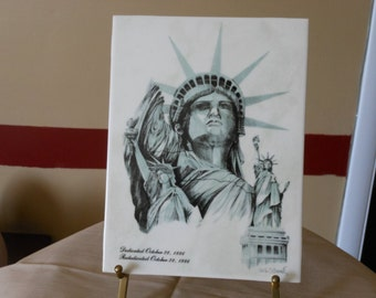 Signed Commemorative Tile for Statue of Liberty's 100th Birthday
